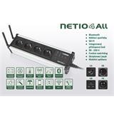 Rozvodný panel NETIO-4 ALL 4x230V s manag.WiFi, Bluetooth, měření spotřeby, plánovač, watchdog, atd., černé proveden
