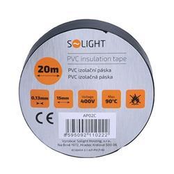 Solight izolačná páska, 15mm x 0,13mm x 20m, čierna