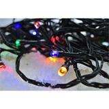 Solight LED vianočná reťaz, 500 LED, 50m, prívod 5m, 8 funkcií, časovač, IP44, viacfarebný