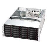 "Supermicro®CSE-846BE16-R1K28B 24x 3,5"" HS SAS/SATA (expander SAS2/6Gb - 1xSFF 8087)+2x2,5"" volitelný ,2x1280W (80PLUS"