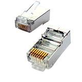 """Tienený konektor STP RJ45-8p8c,50µ"""" Au, lanko, Cat5, (100ks)"""