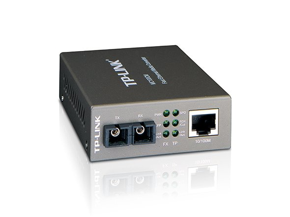 TP-LINK MC100CM 10/100Mbps RJ45 to 100Mbps Multi-mode SC Fiber Converter, Full-duplex, Up to 2km