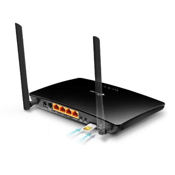 TP-LINK TL-MR6400 300Mbps Wireless N 4G LTE Router, build-in 150Mbps 4G LTE modem V4