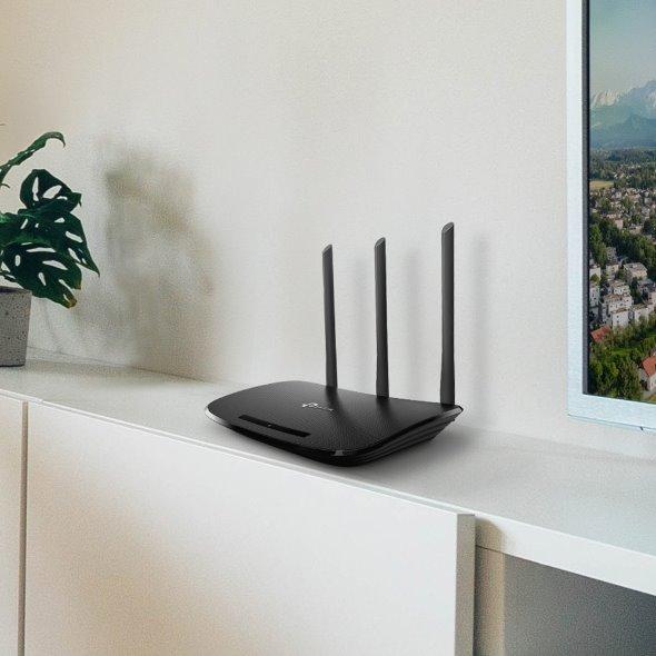 TP-LINK TL-WR940N N450 Wi-Fi Router, 450Mbps at 2.4GHz, 5 10/100M Ports, 3 antennas