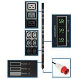 TrippLite 3Phase Metered PDU, 11.5 kW, 45 240/230/220V outlets (36 C13, 9 C19), IEC-309 Red 16A 415/400/380V input, 0U v