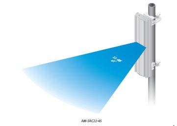 Ubiquiti AirMax AC 5GHz 22dBi 45 stupňů (anténa s rocket príslušenstvom, bez rocket)