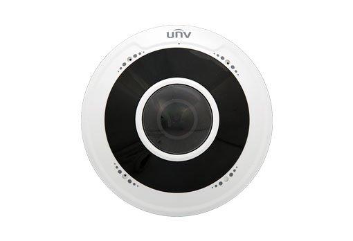 UNIVIEW IP kamera 2560x1944 (5Mpix), až 25 sn/s, H.265, obj. 1,8 mm (180°), PoE, DI/DO, audio, Mic., IR 10m