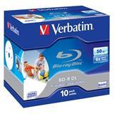 VERBATIM BD-R DL 50GB 6x WIDE PRINTABLE BOX 10pck/BAL