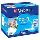 Verbatim - CD-R 700MB 52x Printable Box 10ks