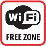 Výstražná samolepka SK - WiFi Free Zone