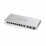 ZyXEL XGS1010-12,8-Port Gigabit Unmanaged Switch with 2-Port 2.5G/2-Port SFP+
